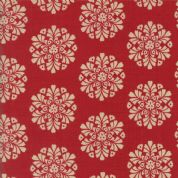 Moda Madam Rouge by French General - 5690 - Floral Circles on Red - 13773 11 - Cotton Fabric